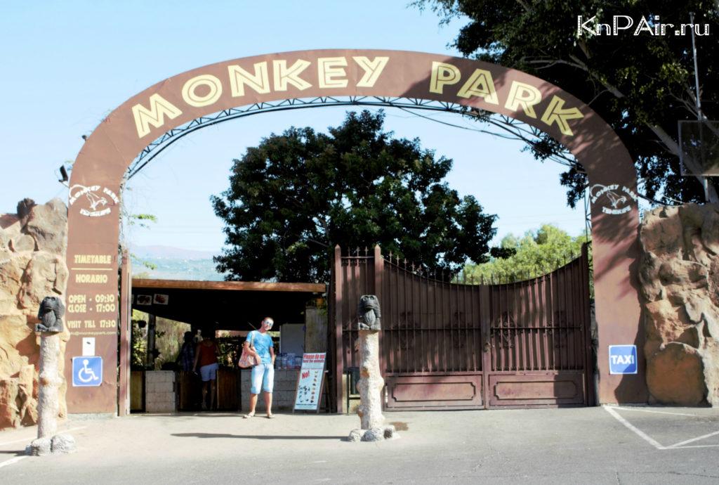 monkey park na tenerife vhod
