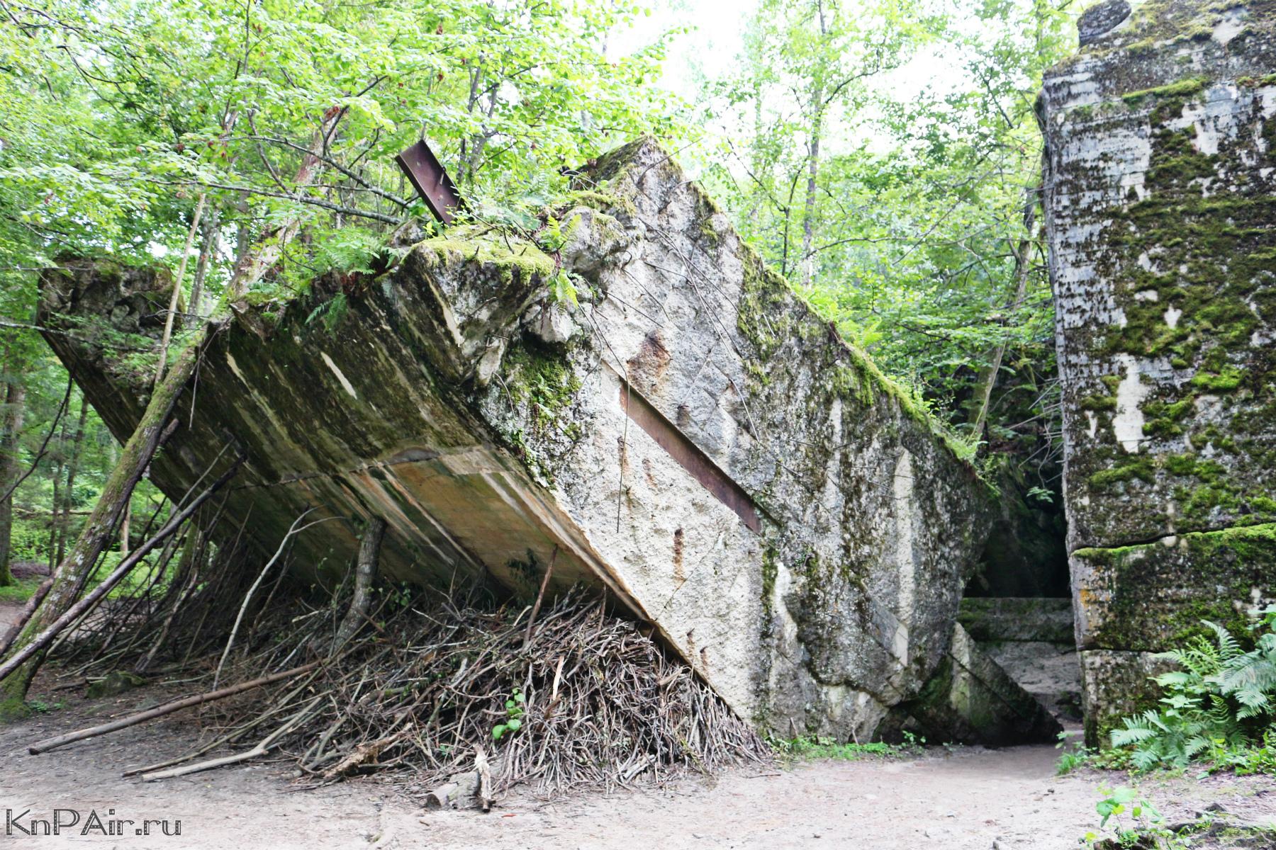 Plita s Armaturoi v Volchiem logove