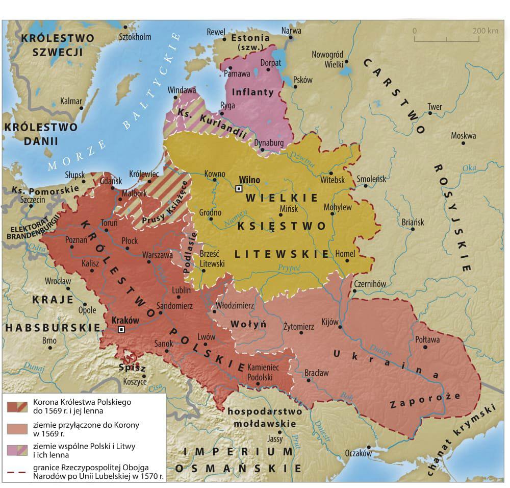 Polsha-i-Prussija-na-karte-1570-god
